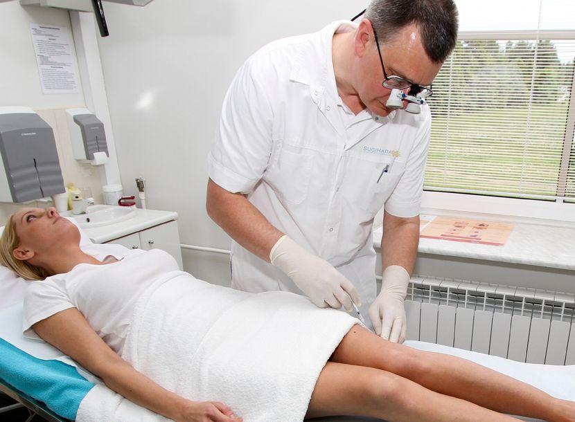 Склеротерапия вен: эффективный безоперационный метод лечения варикоза ног