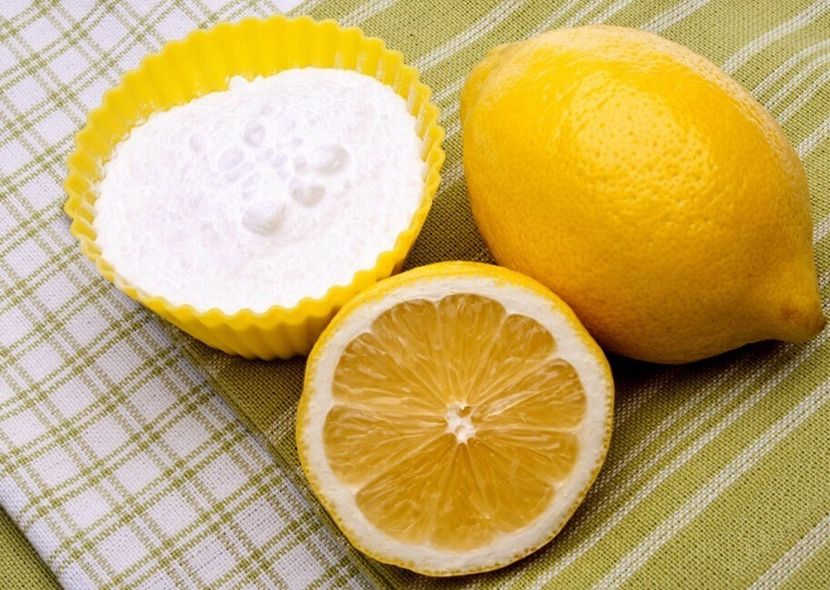 Отбеливание зубов лимоном и содой