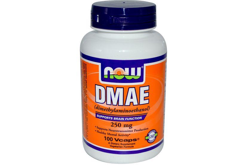 Now Foods, DMAE, 250 мг, 100 капсул на растительной основе