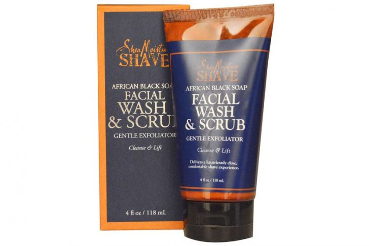 Shea Moisture, Африканское черное мыло-скраб для лица, 4 жидких унции (118 мл)