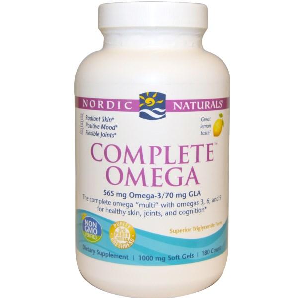 Nordic Naturals, Complete Omega, Lemon, 1000 mg, 180 Soft Gels