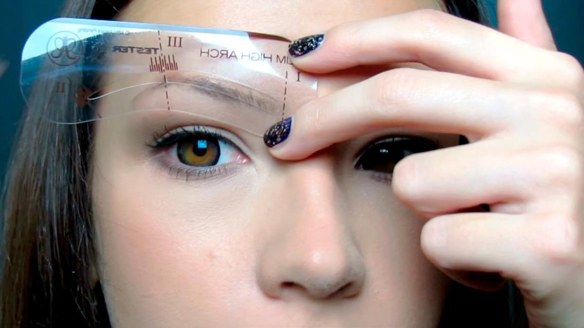 Как сделать прямые брови фото