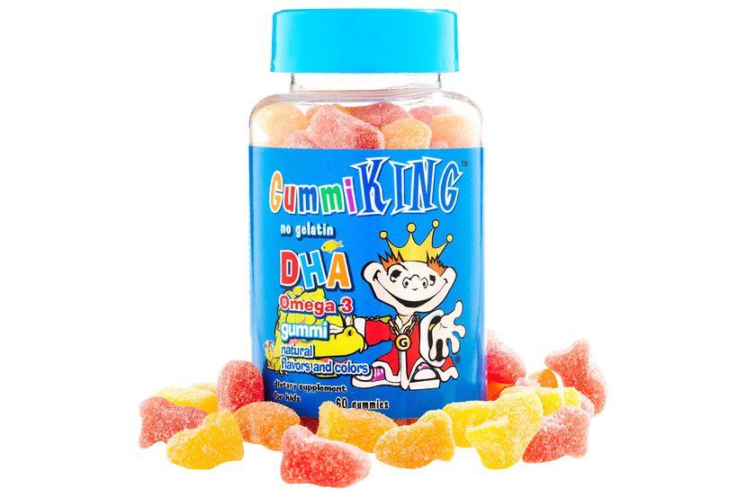 Gummi King, ДГК мега-3, жевательные конфеты для детей, 60 конфет