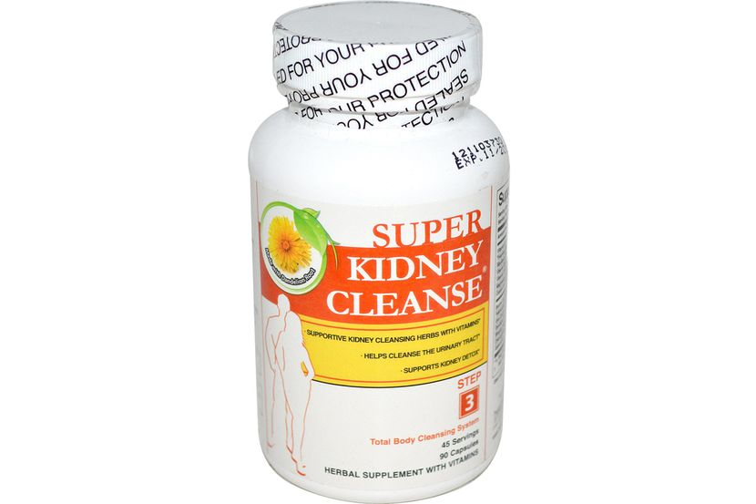 Health Plus Inc., Super Kidney Cleanse, очистка почек, система полной очистки организма, 90 капсул