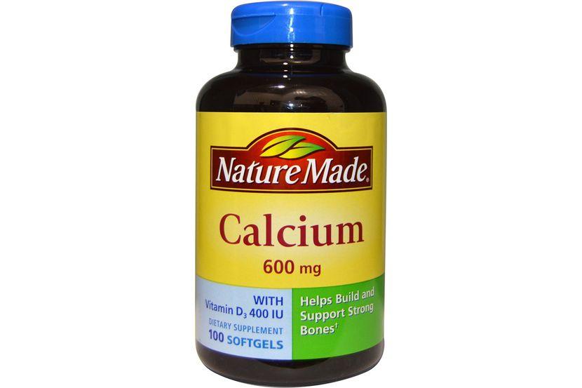 Nature Made, Кальций с витамином D3 400 МЕ, 600 мг, 100 желатиновых капсул