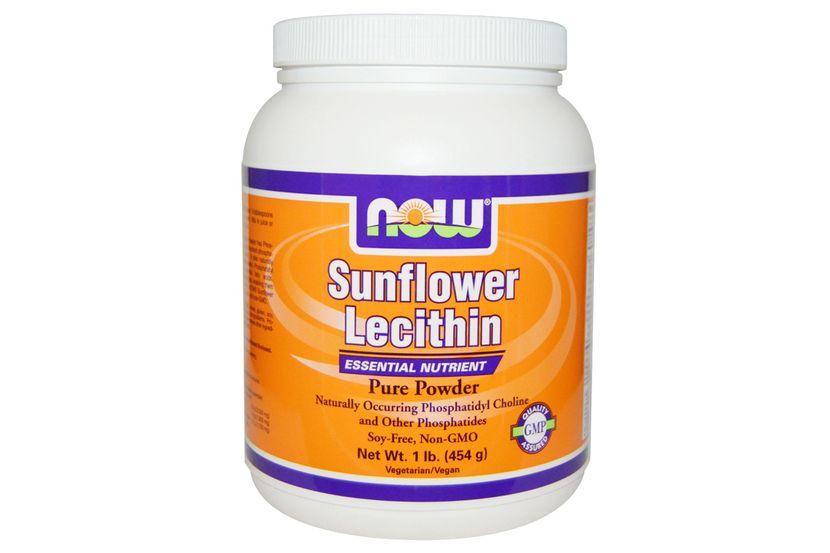 Now Foods, Подсолнечный лецитин, чистый порошок, 1 фунт(454 г)