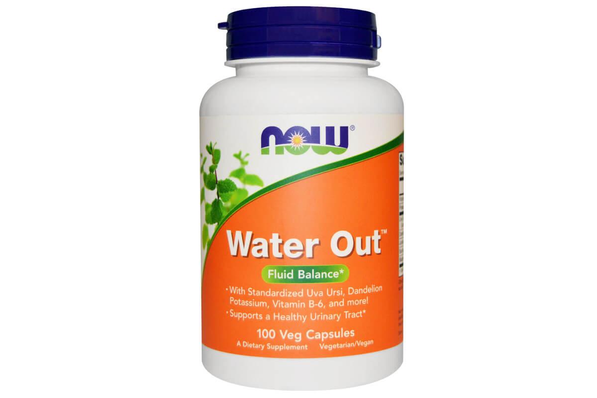Now Foods, Water Out, баланс жидкости, в вегетарианских капсулах (100 штук)