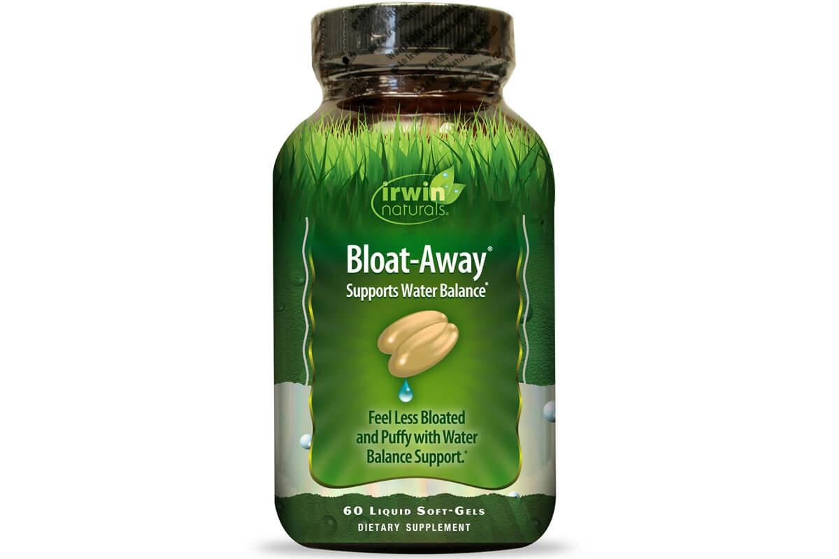 Irwin Naturals, Bloat-Away, диуретик в жидких гелевых капсулах (60 штук)