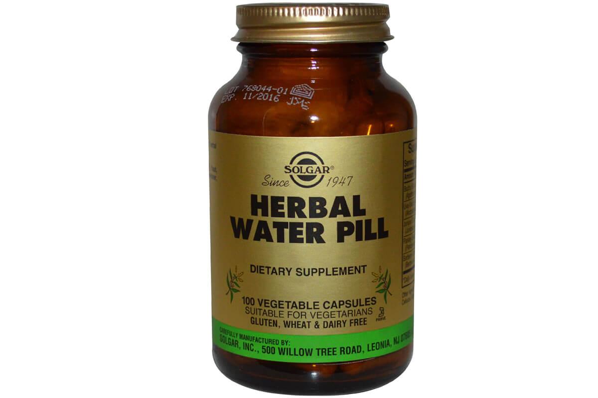 Solgar, Herbal Water Pill, в растительных капсулах (100 штук)