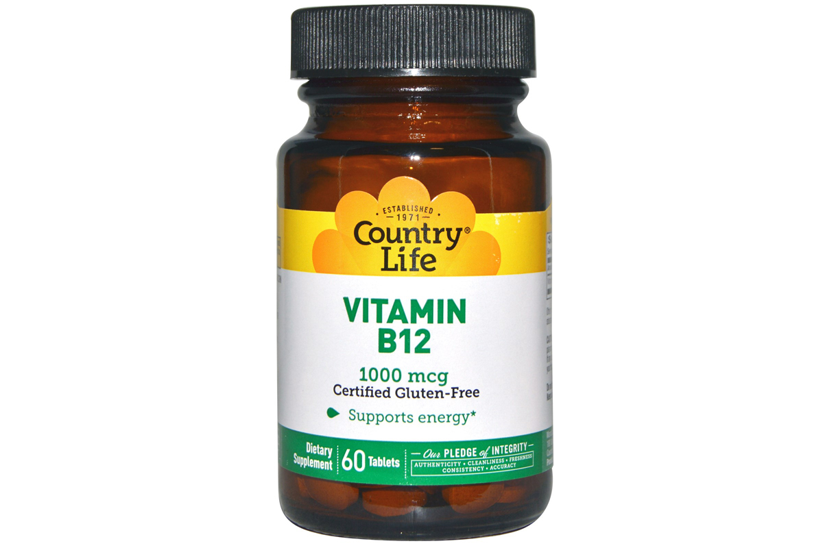 Country Life, Витамин В12, 1000 мкг, 60 таблеток