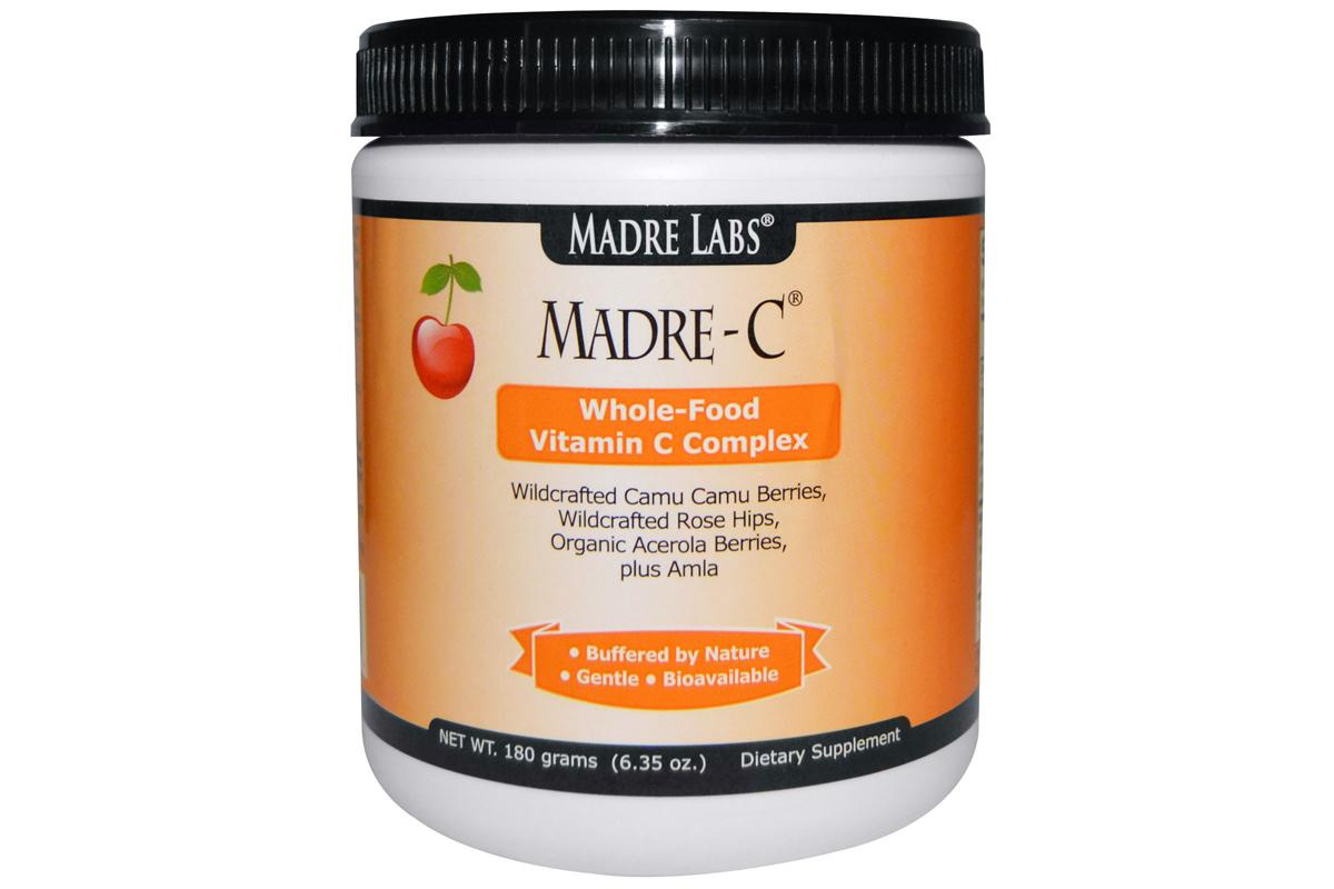 Madre Labs, Madre-C, комплекс витамина С из цельных продуктов, 6.35 унций (180 г) (sale - 16.94$!)