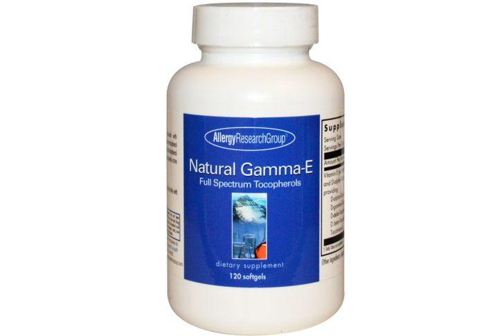 Натуральная Гамма-E, токоферол широкого спектра, 120 гелевых капсул