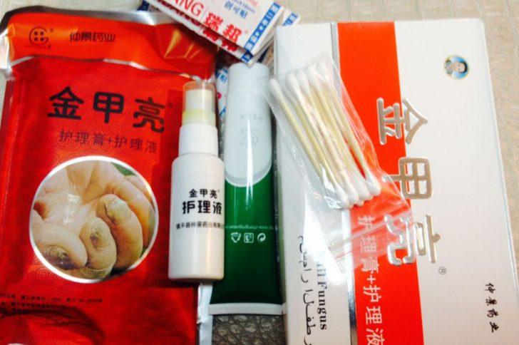Китайские средства и мази от грибка ногтей