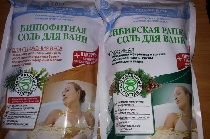 Бишофитная соль для ванн для снижения веса