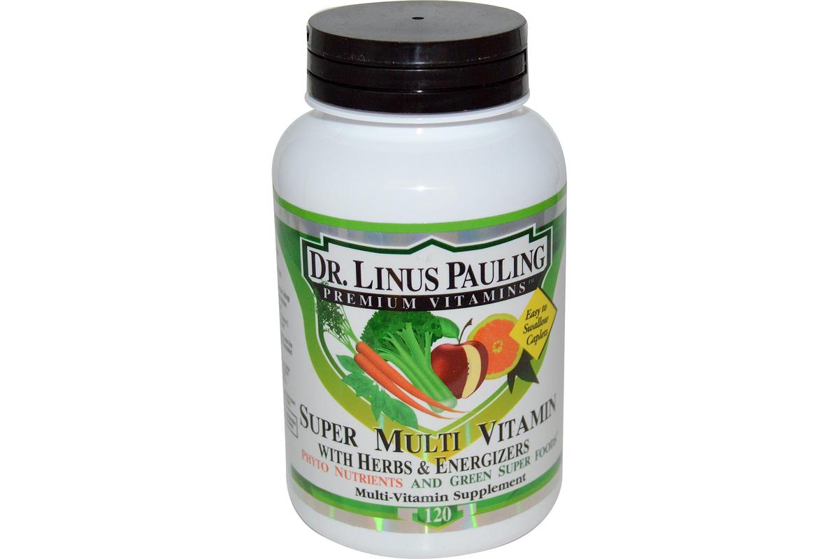 Супермультивитамины Доктора Лайнуса Полинга с травами и энергетическими добавками (120 штук) от Irwin Naturals