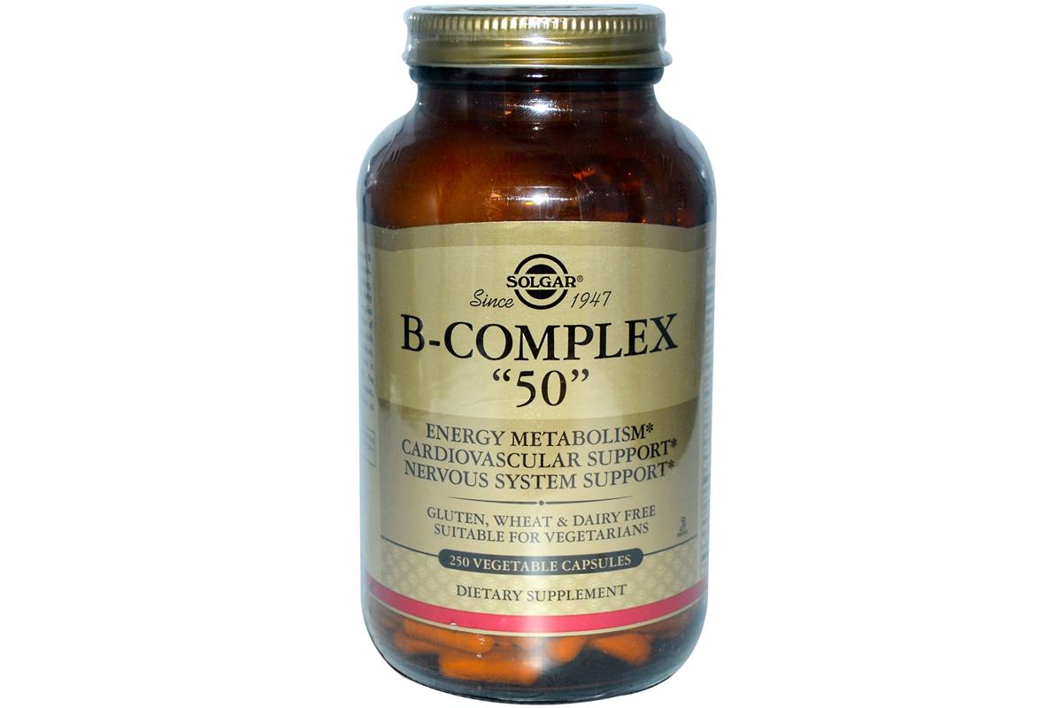 """Solgar, Комплекс витаминов В """"50"""" , в растительных капсулах (250 штук)"""