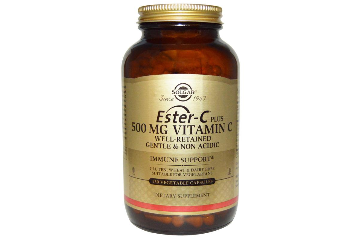Solgar, Solgar, Эстер-C плюс 500 мг, Витамин C, в вегетарианских капсулах (250 штук)