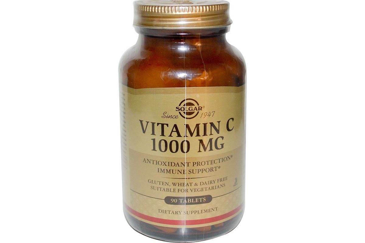 Solgar, Витамин С, 1000 мг, в таблетках (90 штук)