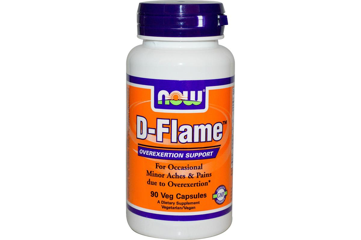 Now Foods, D-Flame, в растительных капсулах (120 штук)