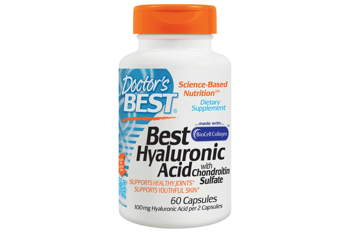 Doctor's Best, Гиалуроновая кислота с сульфатом хондроитина (Best Hyaluronic Acid with Chondroitin Sulfate) в капсулах (60 штук)