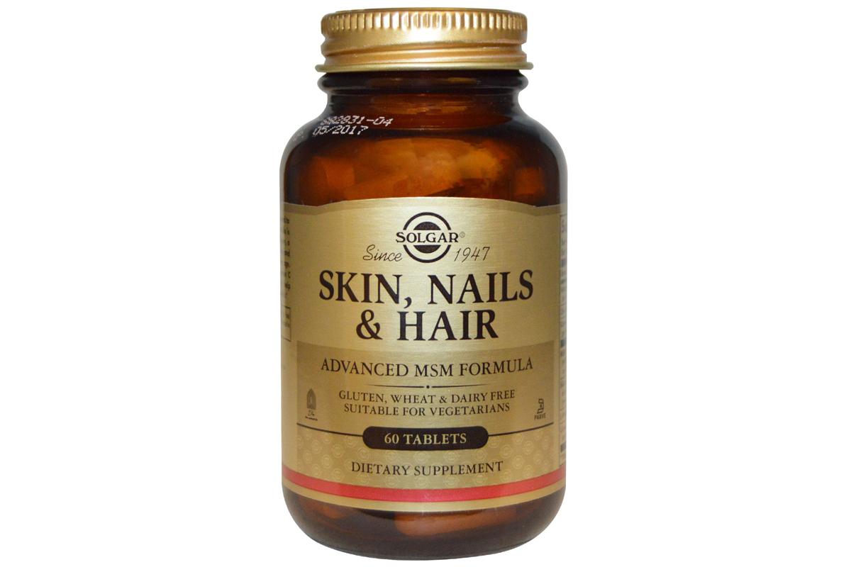Solgar, Кожа, ногти и волосы, улучшенная МСМ формула, в таблетках (60 штук)