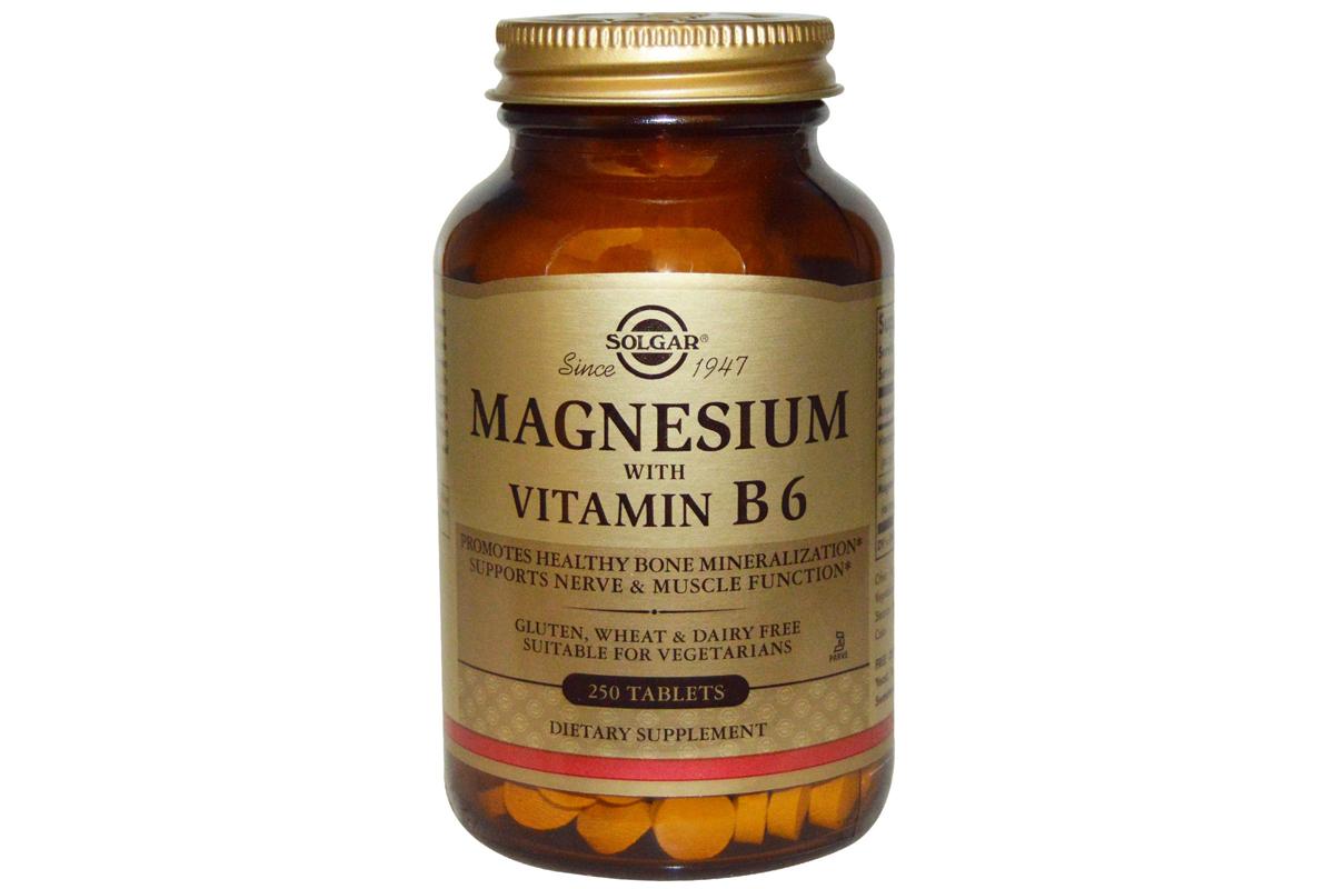 Solgar, Магний, с витамином В6 в таблетках (250 штук)