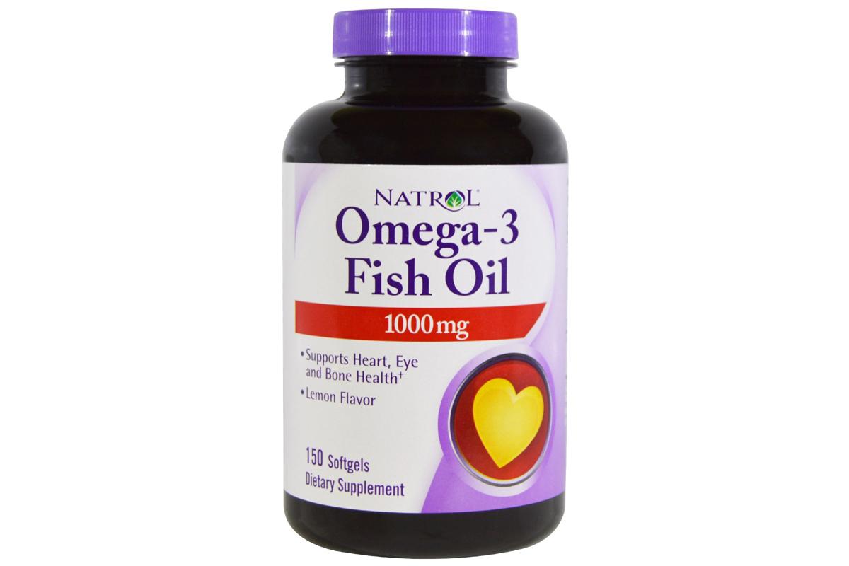 Омега-3 рыбий жир со вкусом лимона в желатиновых капсулах от Natrol