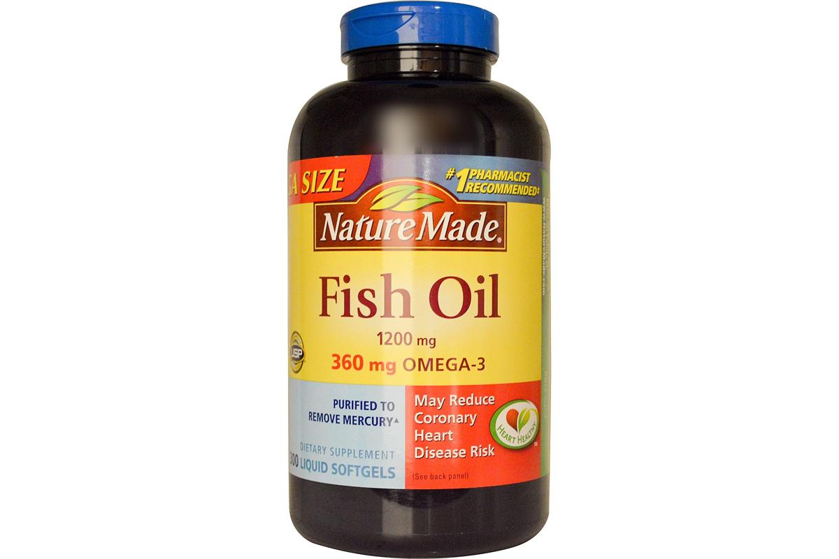 Рыбий жир в жидких капсулах от Nature Made