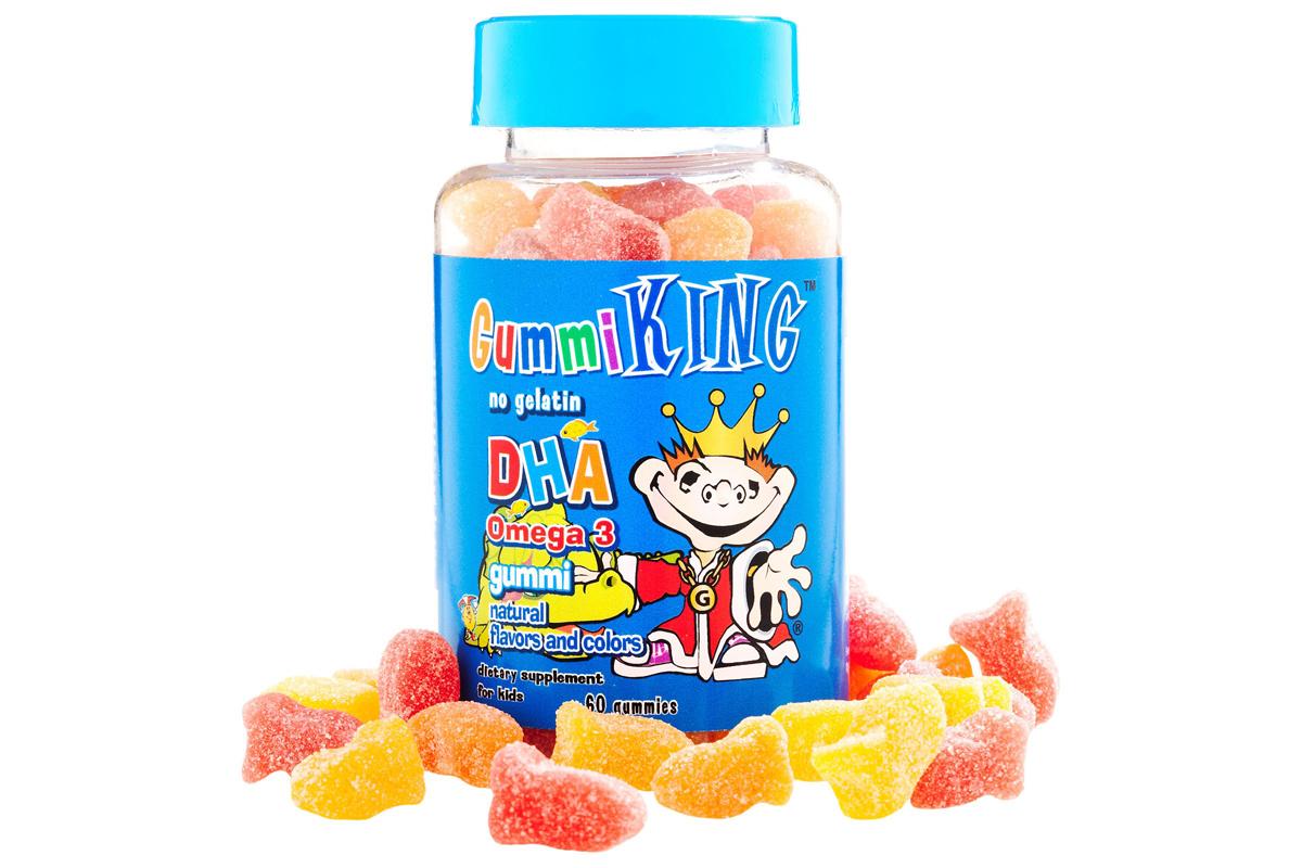 Омега-3, жевательные конфеты для детей от Gummi King