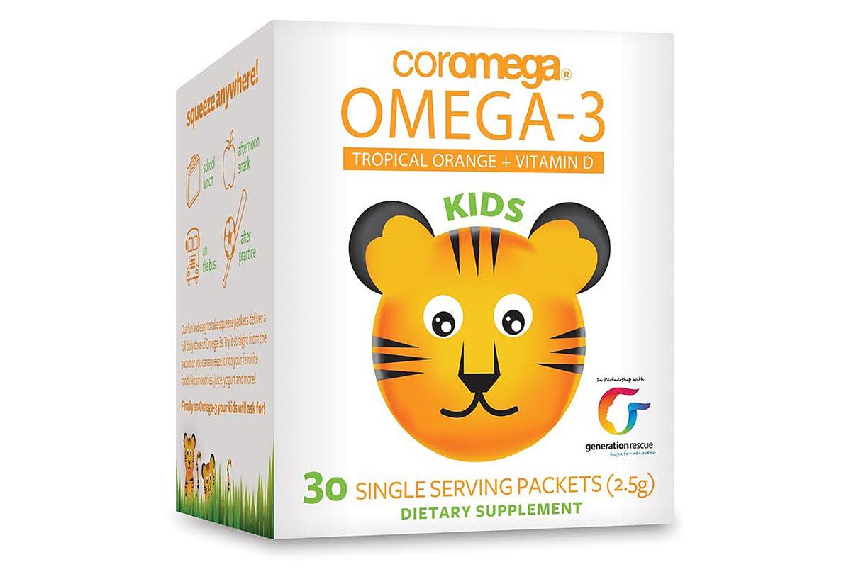 Омега-3 для детей + витамин D в пакетиках от Coromega