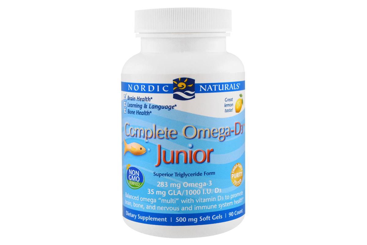 Омега-3 + витамин D3 для детей, в мягких таблетках от Nordic Naturals