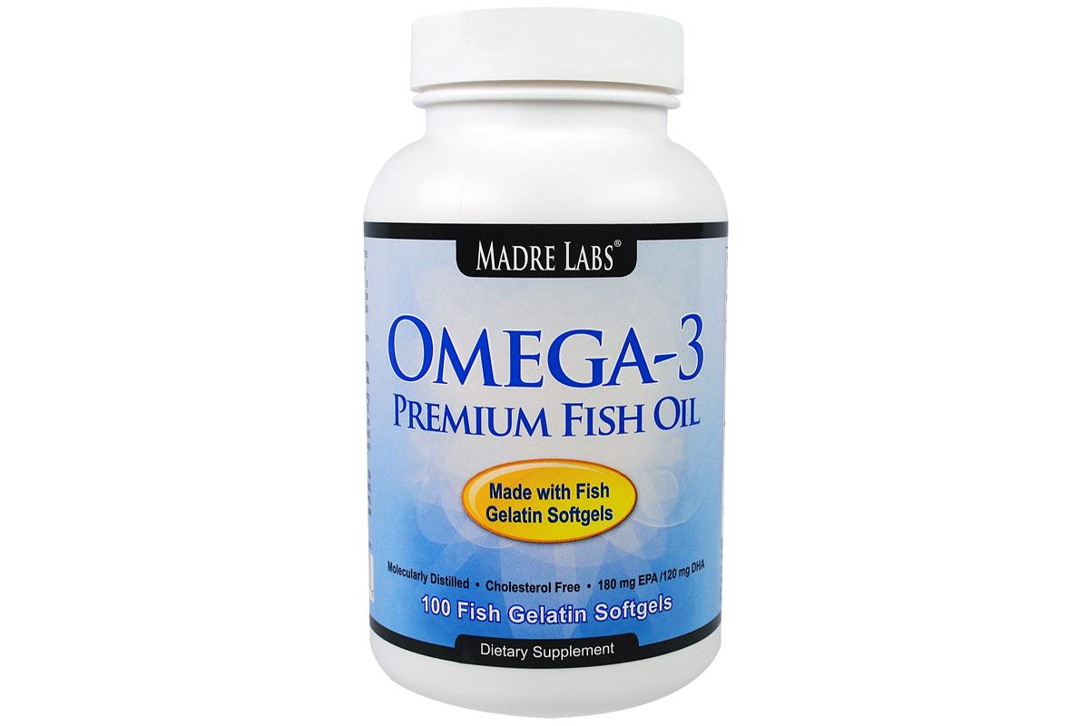 Рыбий жир премиум-класса в желатиновых капсулах от Madre Labs