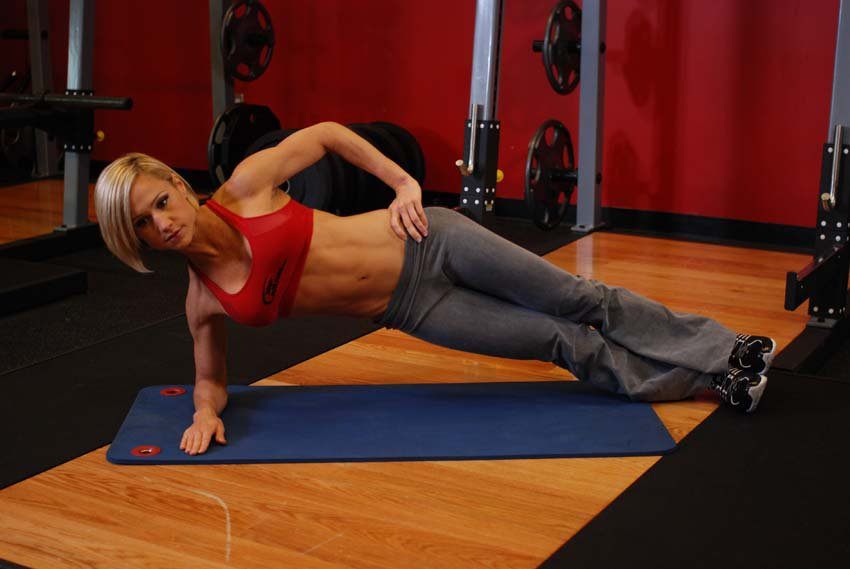 Упражнения на боковые мышцы пресса