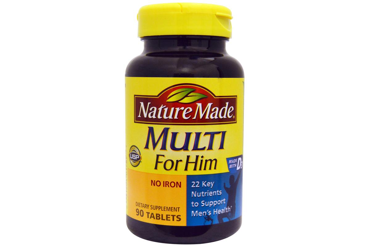 Multi for him, без железа в таблетках (90 штук) от Nature Made