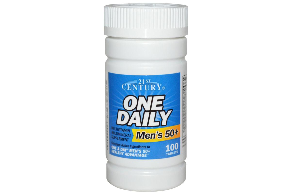 мультивитамины и мультиминералы One Daily в таблетках (100 штук) от 21st Century