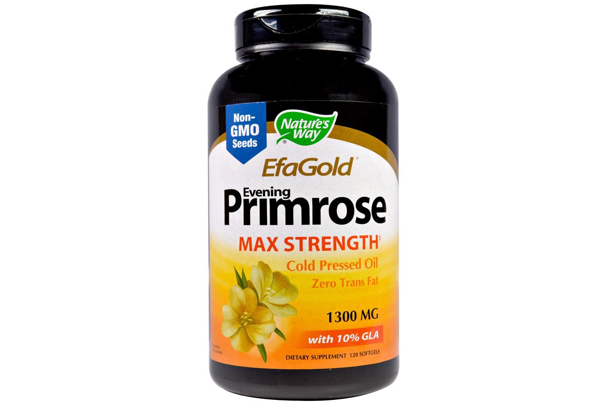 Nature's Way, EFAGold, Примула вечерняя, максимальная концентрация, 1,300 мг, в мягких таблетках (120 штук)