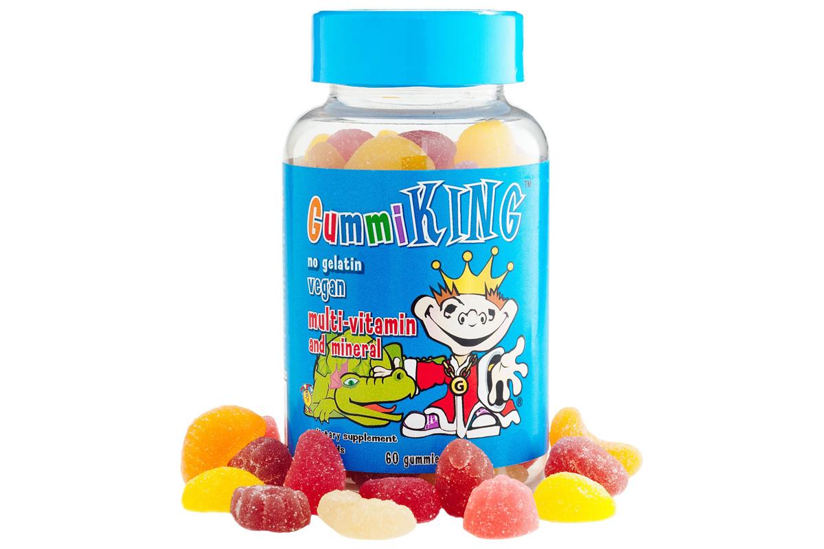 Gummi King, Мультивитамины и минералы для детей, 60 жевательных конфет в виде мишек