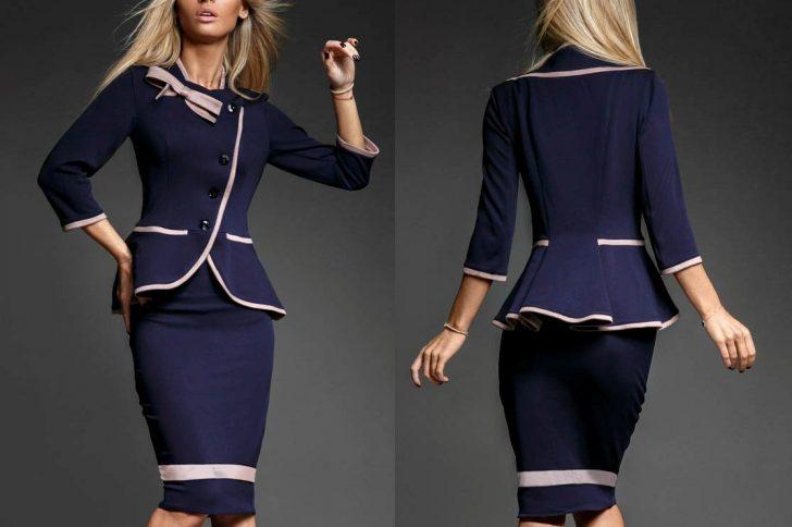 Юбочный костюм — лучшие модели, тренды и сочетания