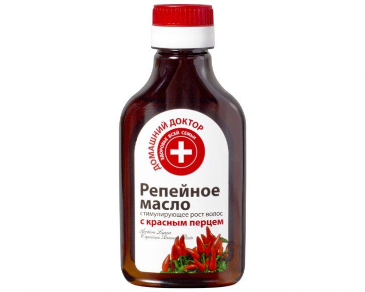 Маска с репейным маслом и красным перцем