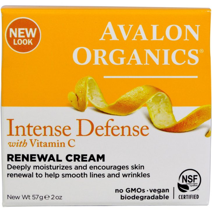 Крем Intense Defence Renewal Cream с витамином C от Avalon Organics (57 г)