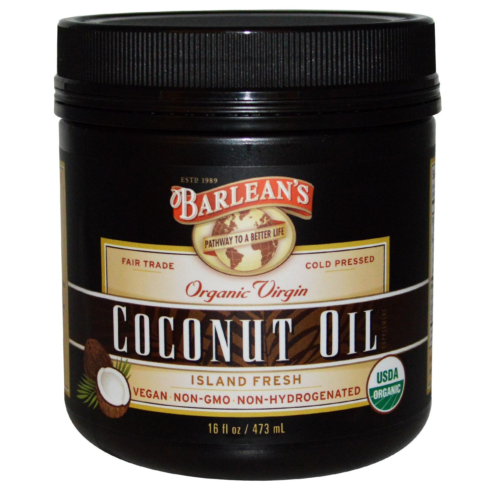 Barlean's, Органическое кокосовое масло первого отжима