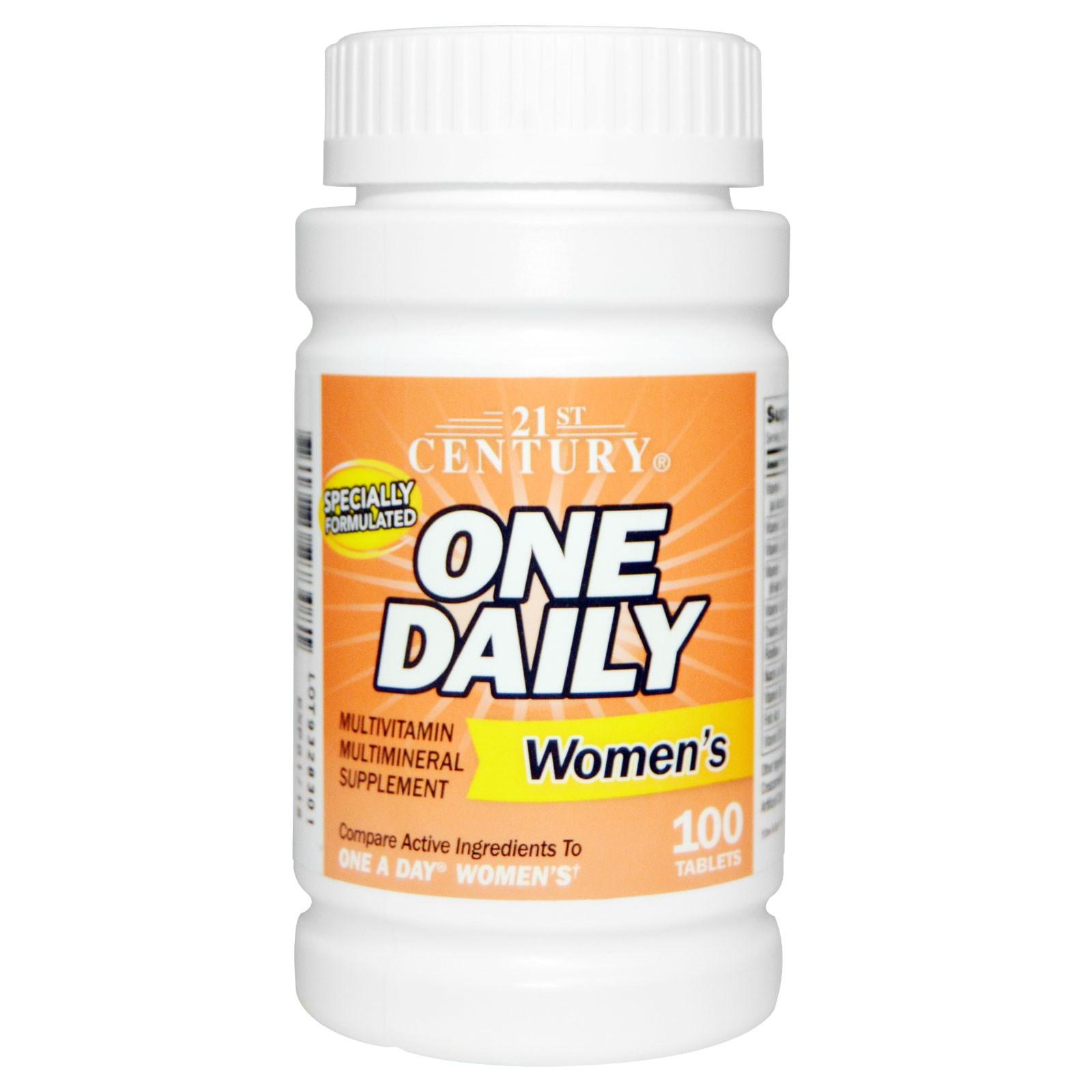 Витаминный комплекс One Daily для женщин, 21st Century, в таблетках (100 штук)