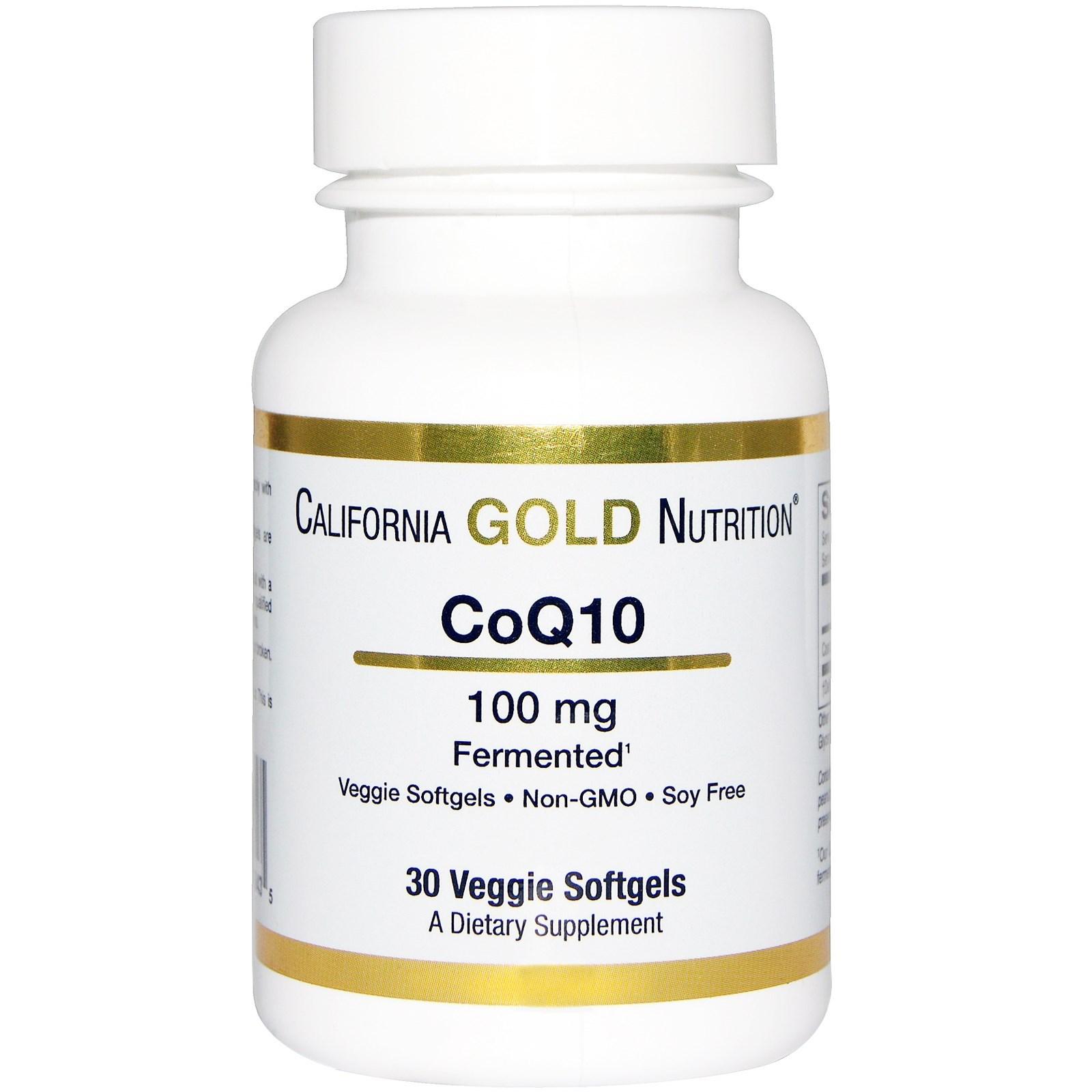 CoQ10 в мягких капсул California Gold Nutrition