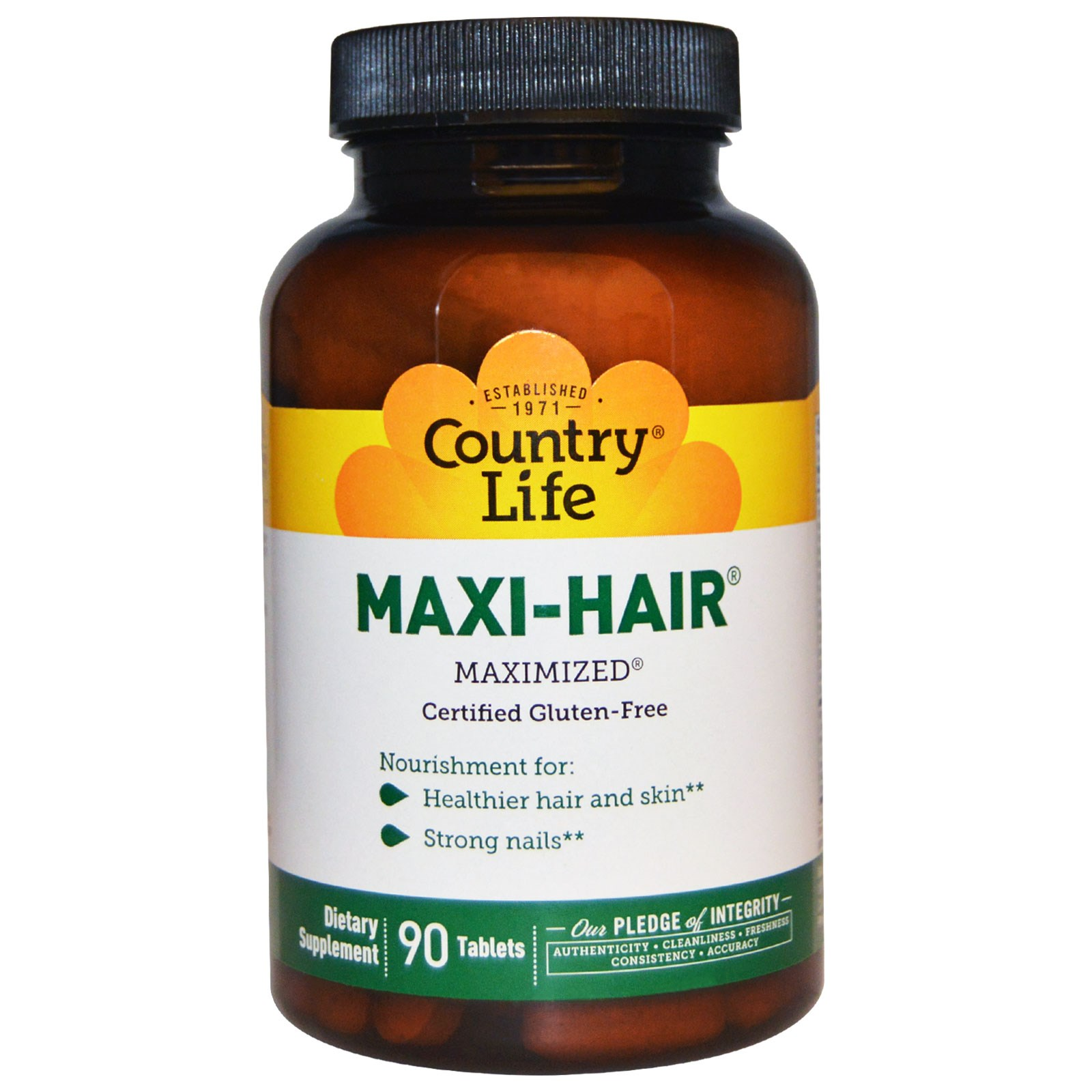 Комплекс Maxi-Hair от Country Life в таблетках (90 штук)