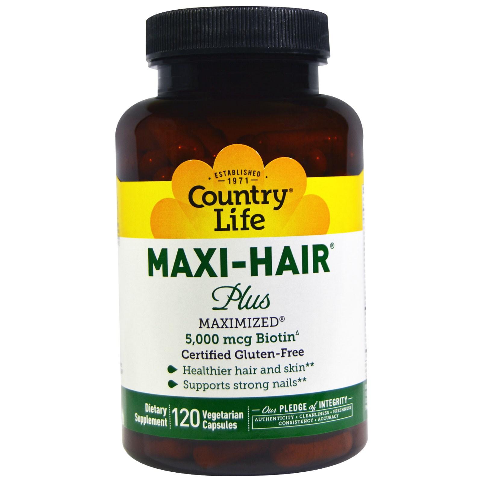 Maxi Hair Plus от Country Life в таблетках (120 штук)