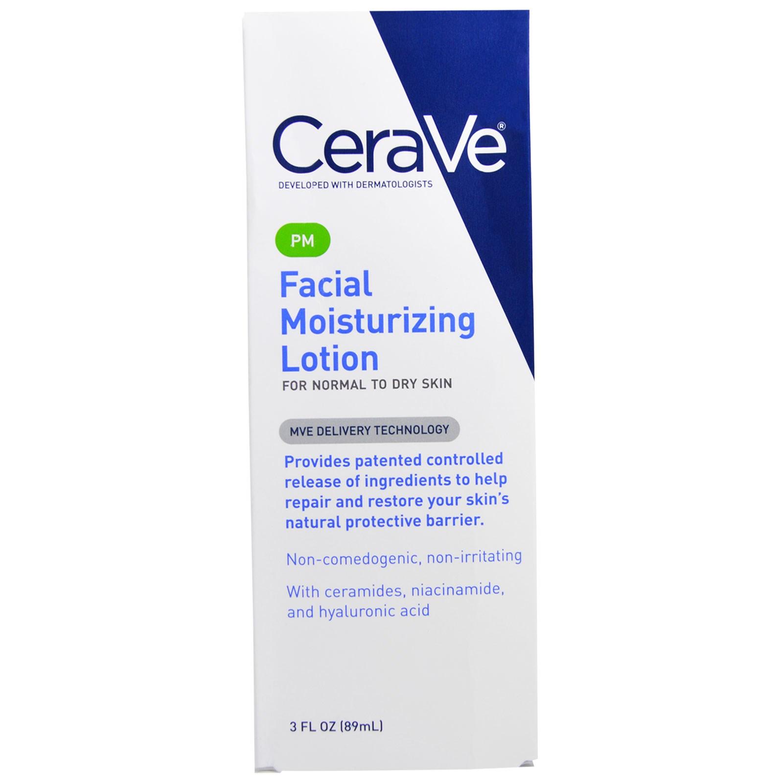 Увлажняющий лосьон для лица CeraVe, PM (89 мл)
