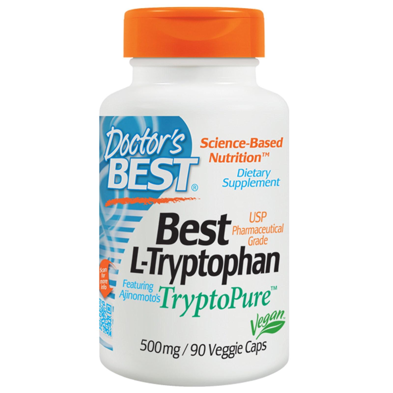 L-триптофан Doctor's Best в растительных капсулах (90 штук)