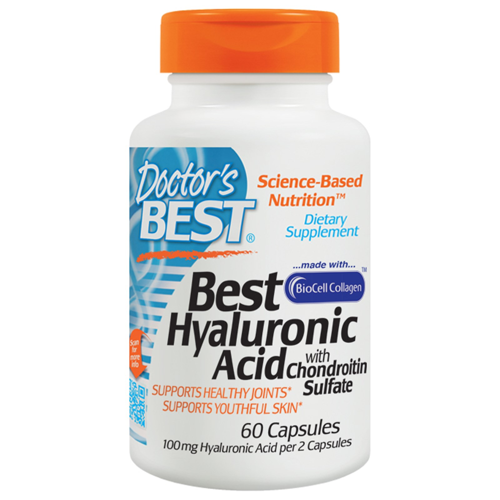 Doctor's Best, Hyaluronic Acid + Chondroitin Sulfate, в капсулах (60 штук)