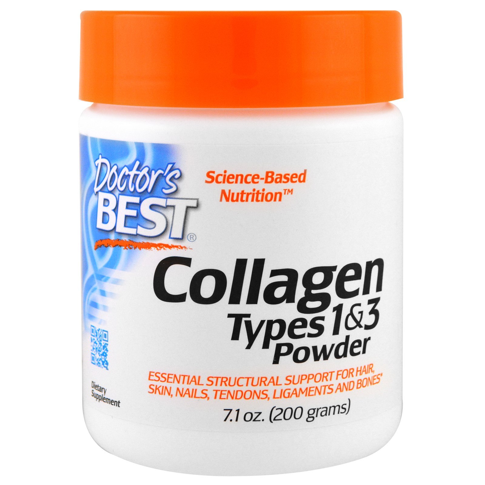 Коллаген Doctor's Best, I и III тип, порошок (200 г)