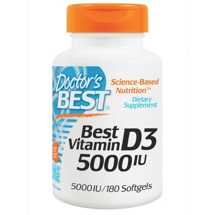 Витамин D3, Doctor's Best, в мягких капсулах (180 штук)